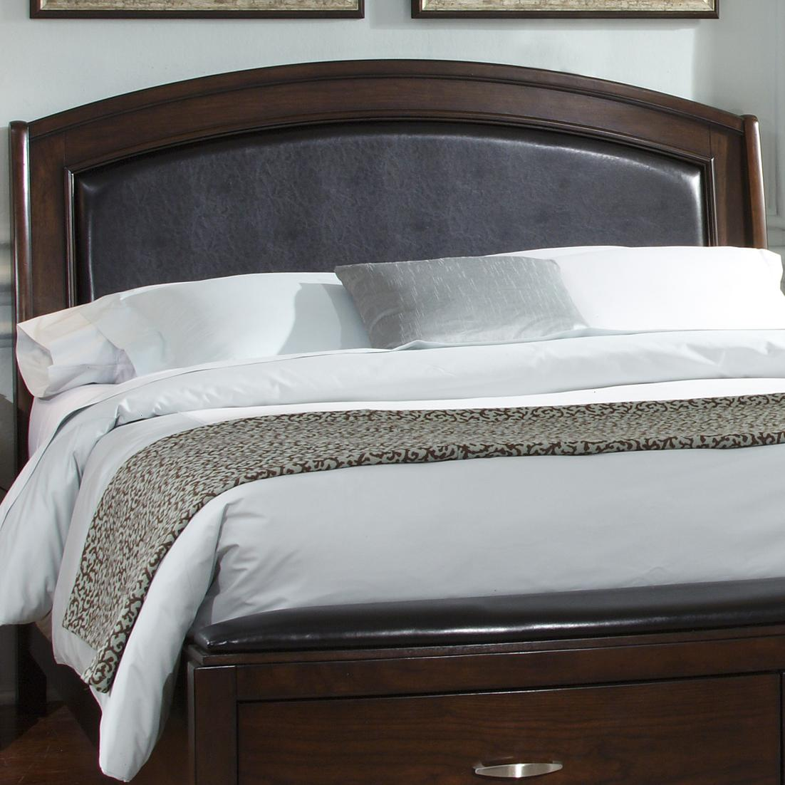 Avalon Queen Platform Leather Headboard by Liberty Furniture at Furniture and ApplianceMart