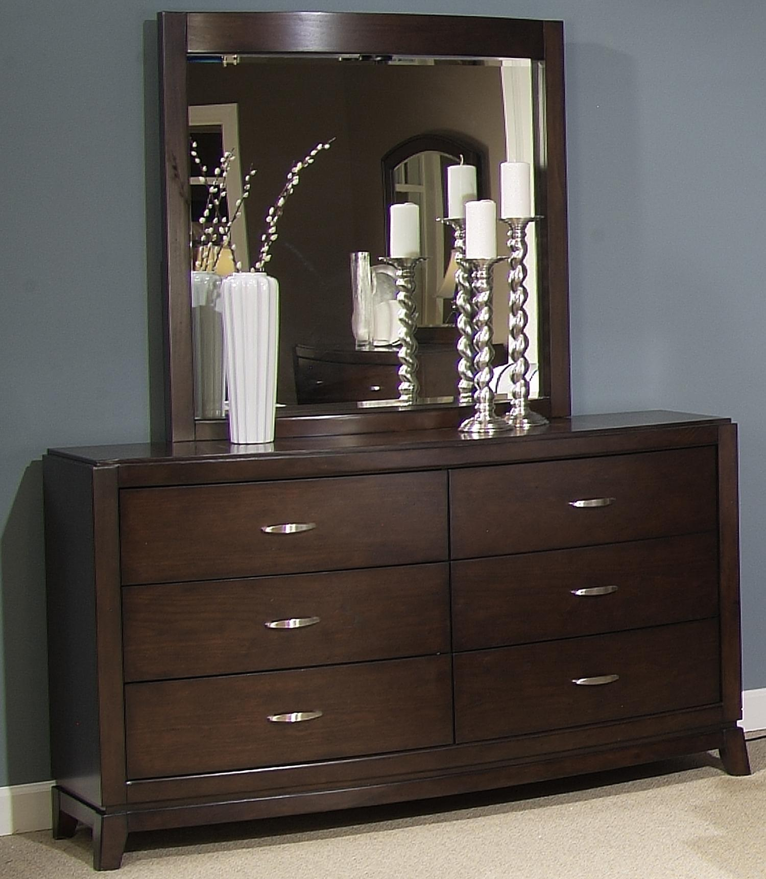 Avalon Dresser & Lighted Mirror by Libby at Walker's Furniture