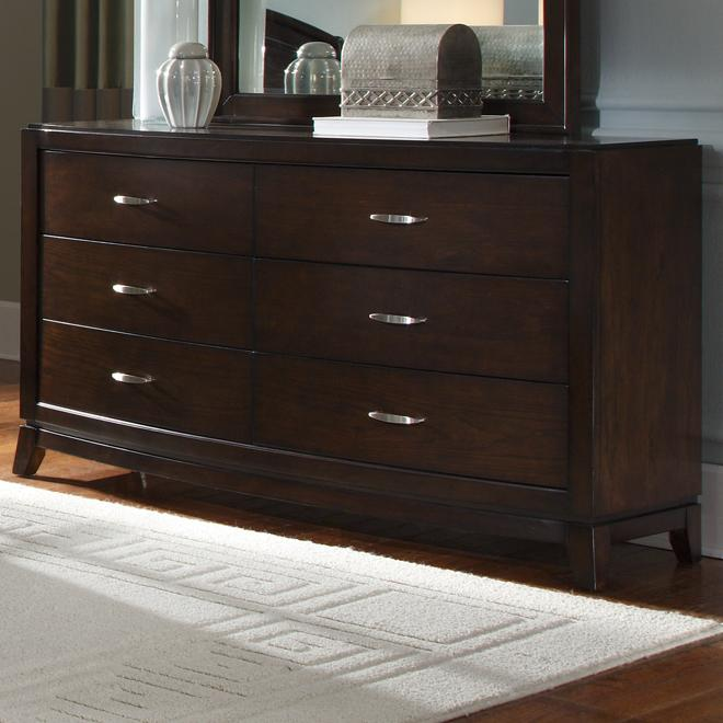 Avalon 6 Drawer Dresser by Liberty Furniture at Furniture and ApplianceMart