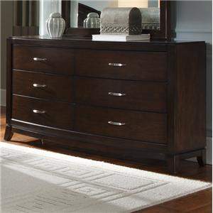 6 Drawer Dresser with Tapered Feet