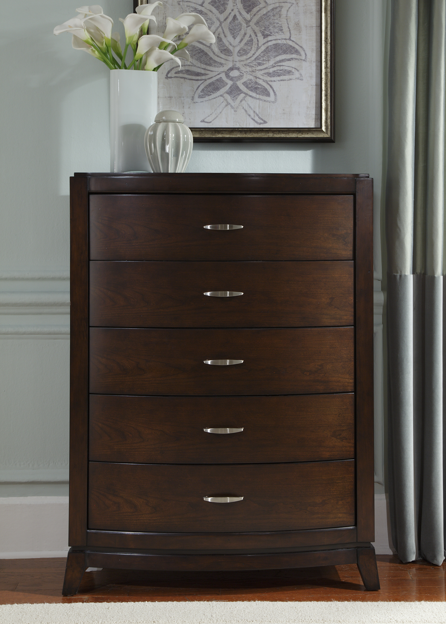 Avalon 5 Drawer Chest by Liberty Furniture at Zak's Home