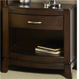 Night Stand with Drawer and Shelf