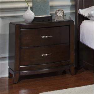 2 Drawer Night Stand with Tapered Feet