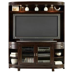 Two-Door TV Stand & Hutch Entertainment Center