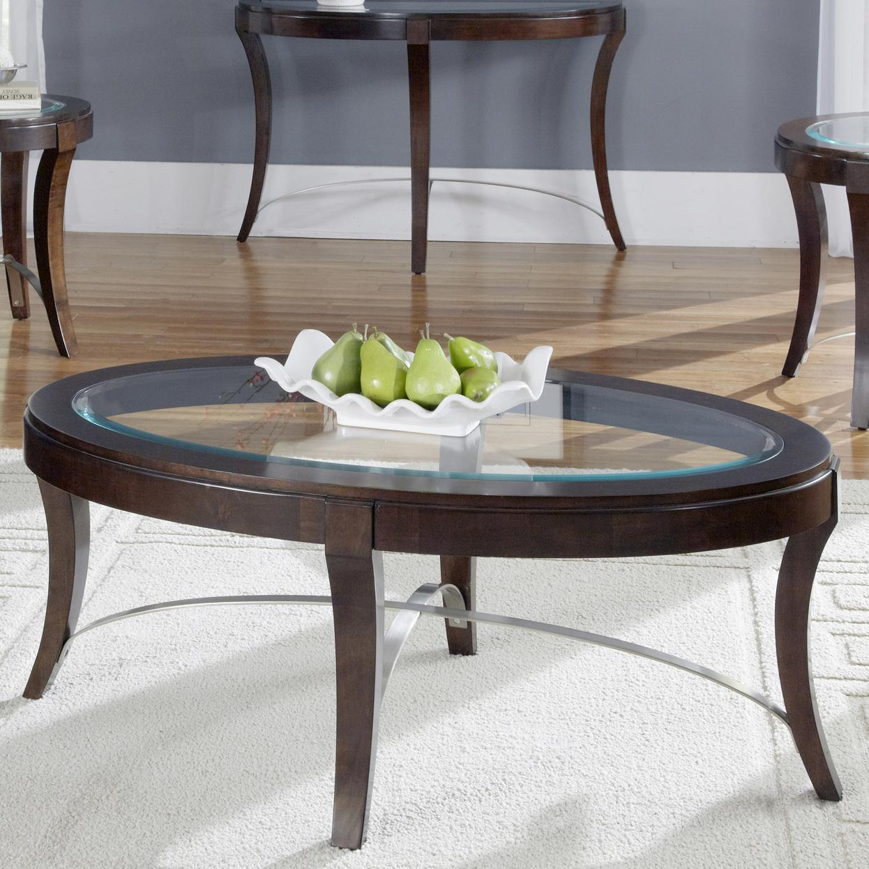 Avalon Oval Cocktail Table by Liberty Furniture at Northeast Factory Direct