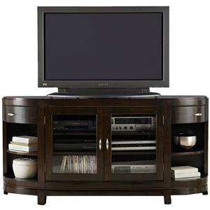 Two-Door Entertainment TV Stand with Drawers and Shelves
