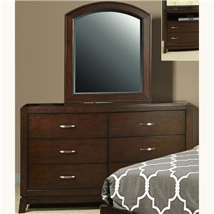 Youth Dresser with 5 Drawers & Arched Mirror