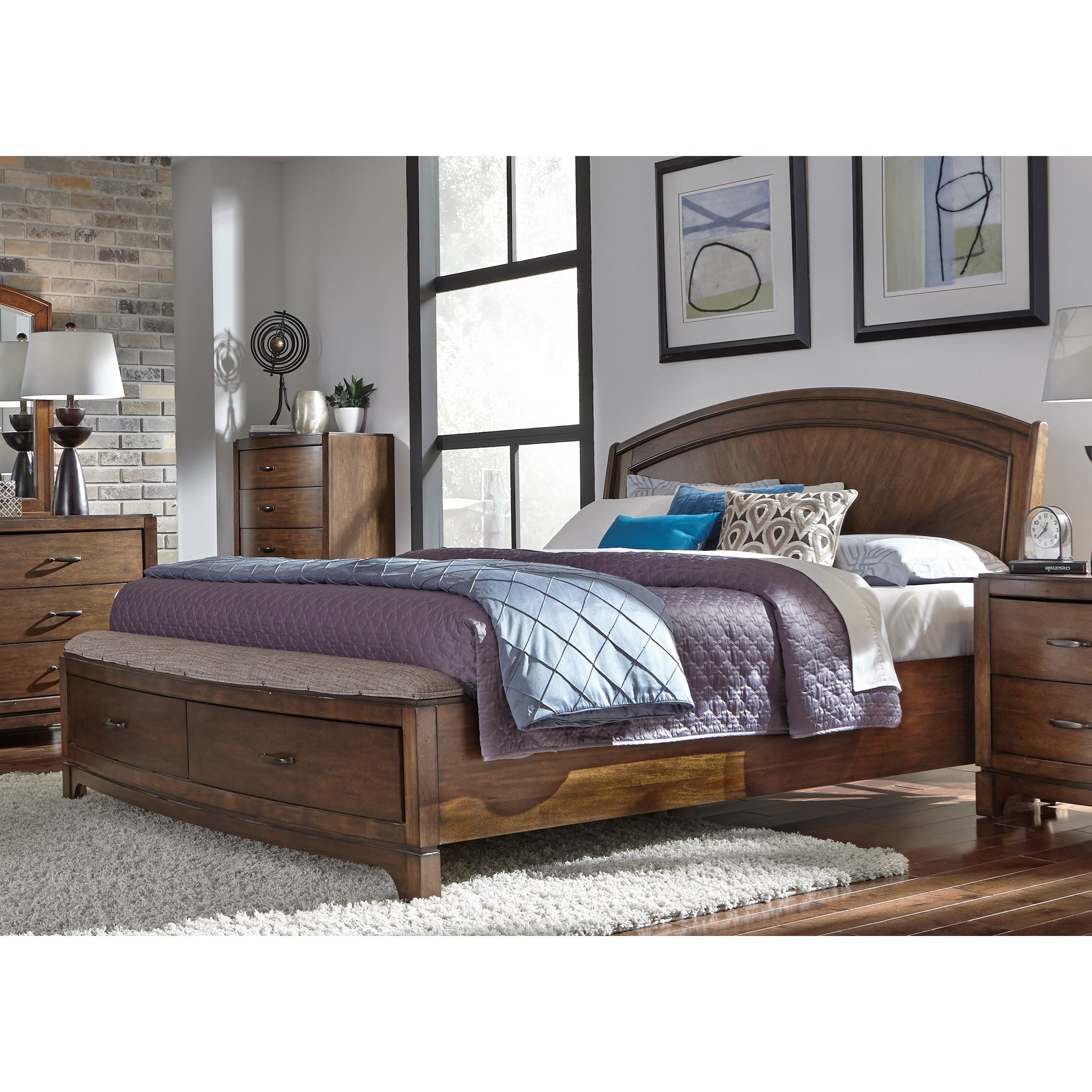 Avalon III King Panel Storage Bed by Libby at Walker's Furniture