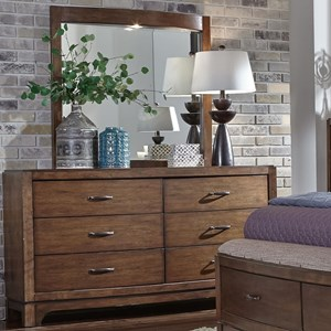 6 Drawer Dresser and Lighted Mirror