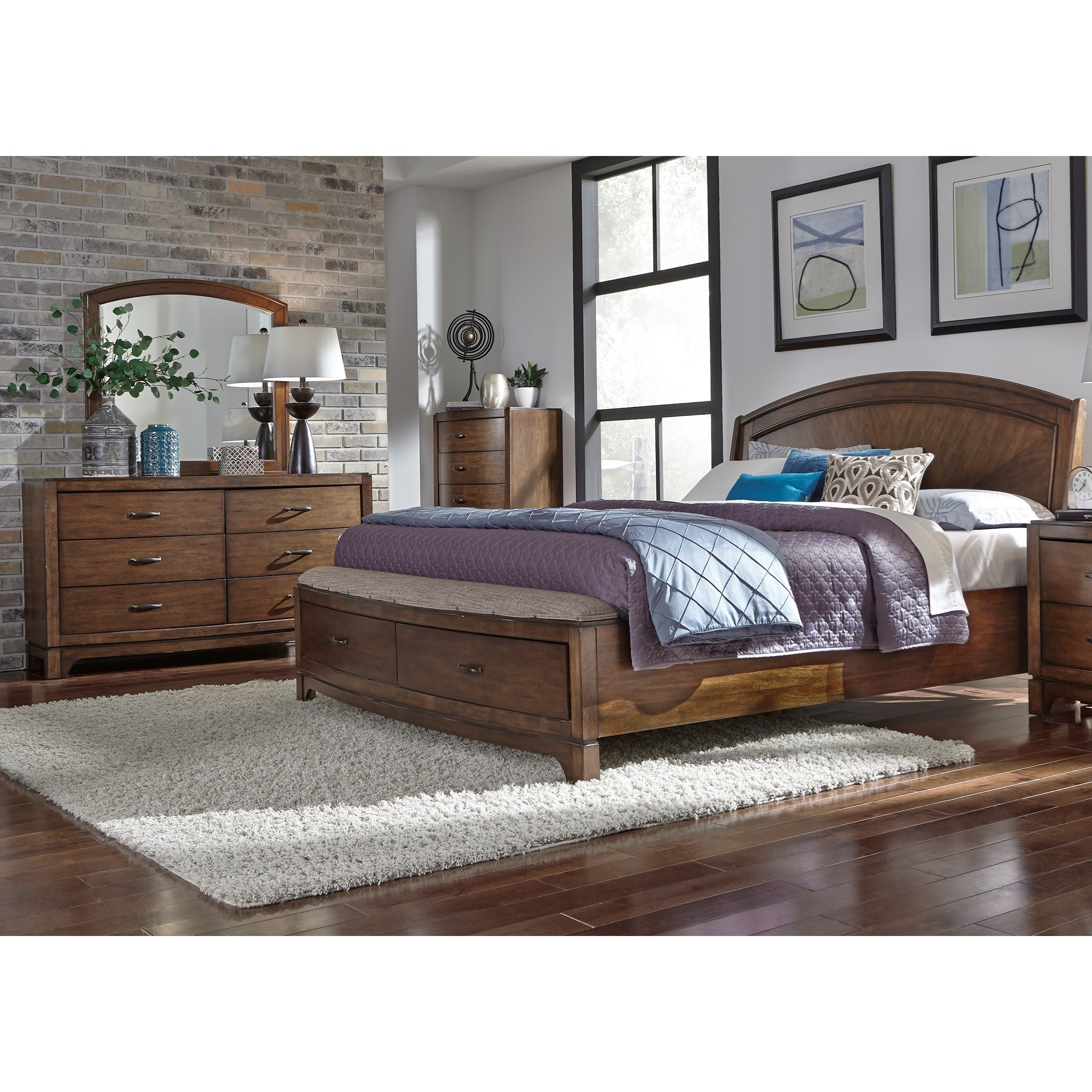 Avalon III Queen Bedroom Group by Liberty Furniture at Nassau Furniture and Mattress