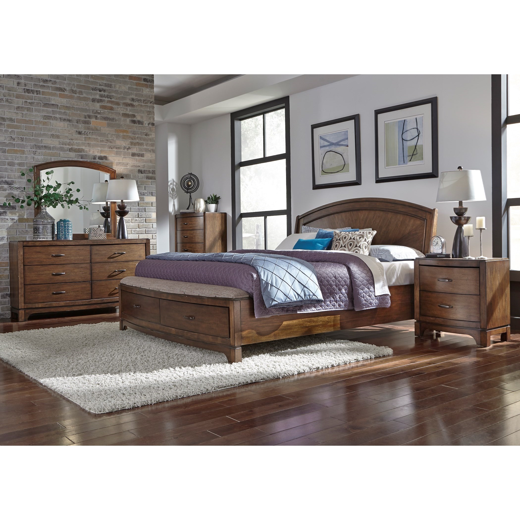 Avalon III Queen Bedroom Group by Liberty Furniture at Furniture and ApplianceMart