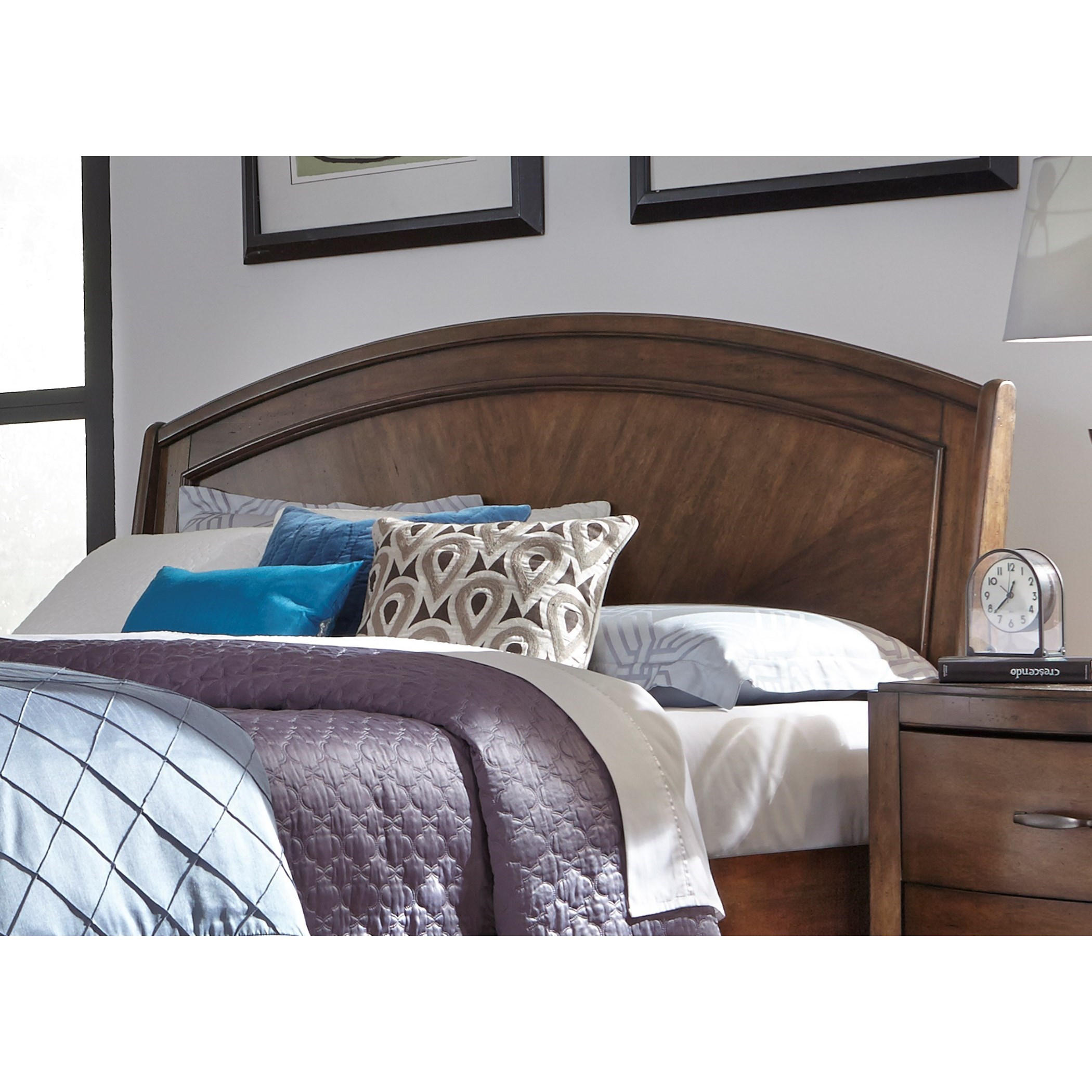Avalon III Queen Platform Headboard by Liberty Furniture at Novello Home Furnishings