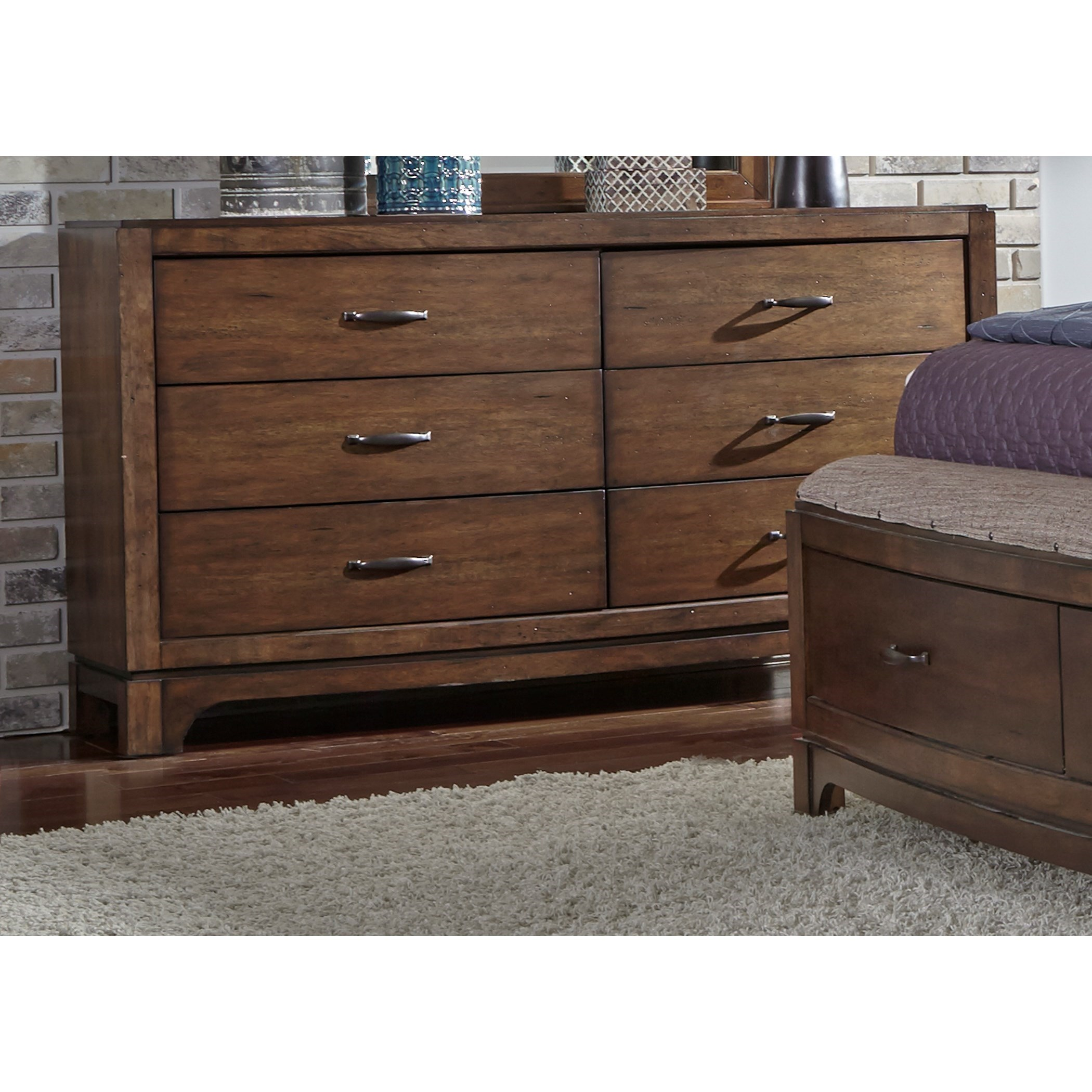Avalon III 6 Drawer Dresser by Libby at Walker's Furniture