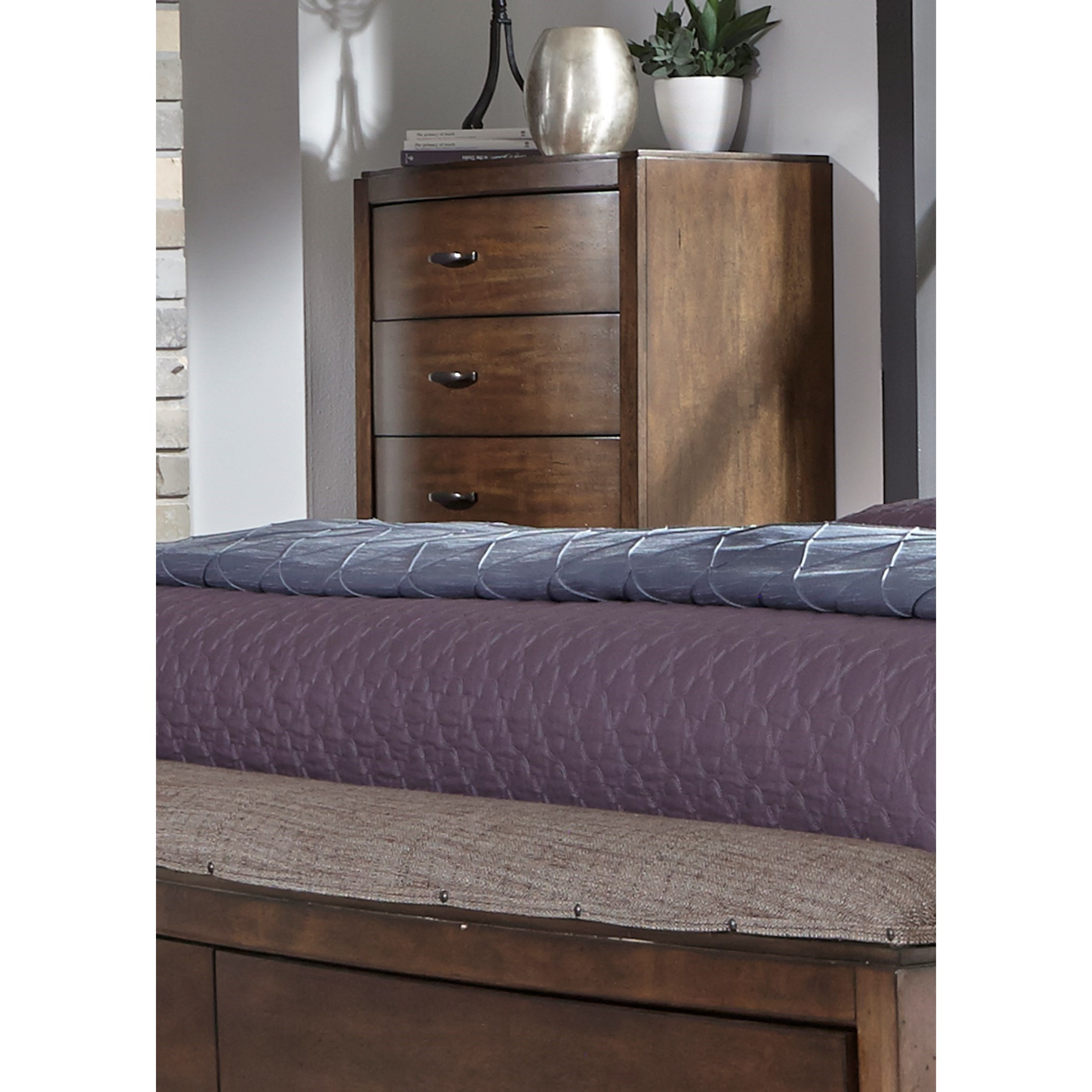 Avalon III 5 Drawer Chest by Liberty Furniture at Zak's Home