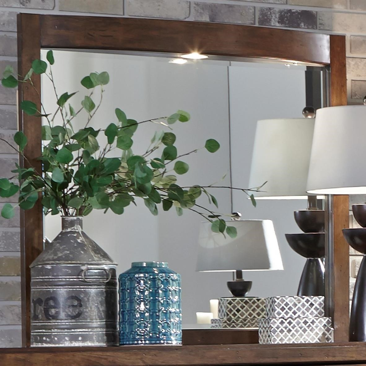 Avalon III Lighted Mirror by Libby at Walker's Furniture