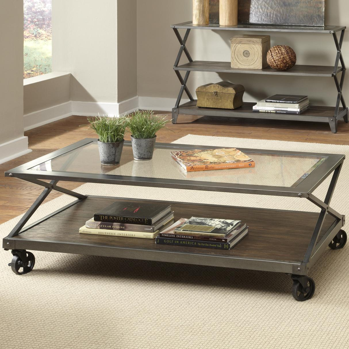 Avignon Castered Cocktail Table by Liberty Furniture at Standard Furniture