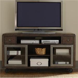 Industrial TV Console with Casters