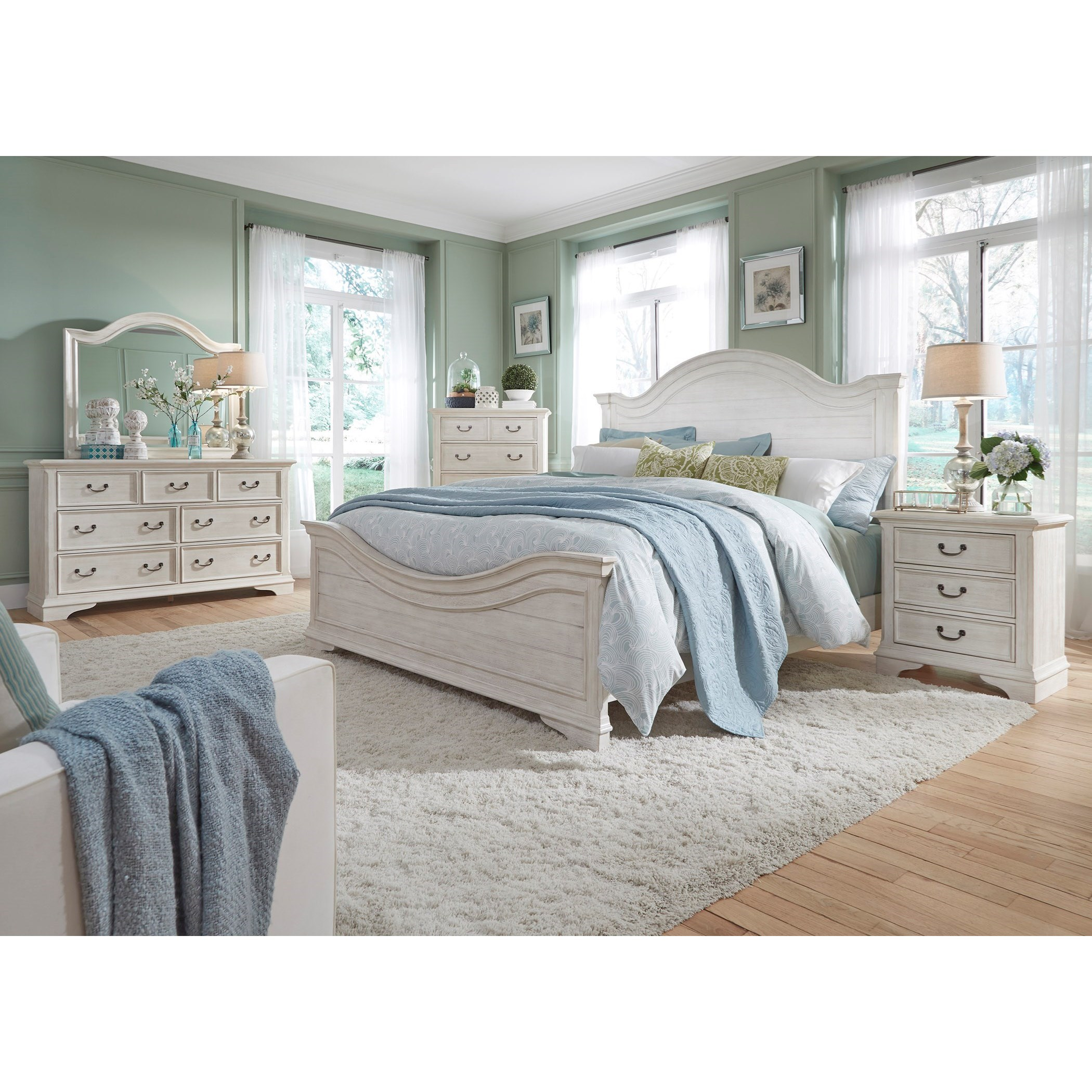 Bayside Bedroom Queen Bedroom Group by Liberty Furniture at SuperStore