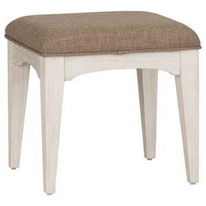 Transitional Upholstered Vanity Bench