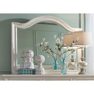 Transitional Arched Mirror with Beveled Glass