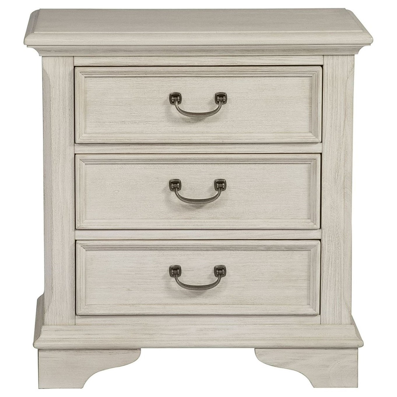 Bayside Bedroom 3 Drawer Night Stand by Liberty Furniture at Johnny Janosik