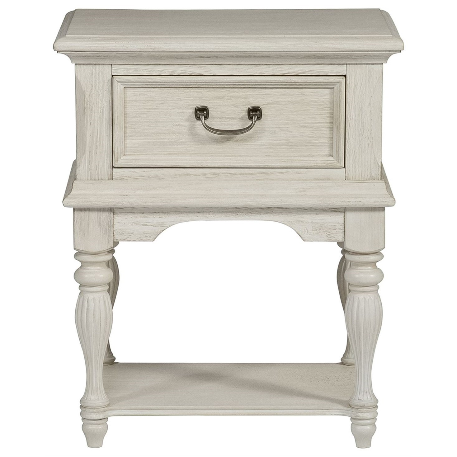 Bayside Bedroom Leg Night Stand by Liberty Furniture at Northeast Factory Direct