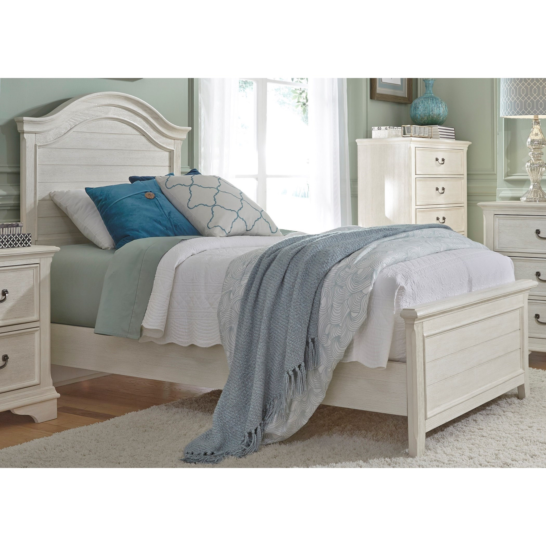 Bayside Bedroom Full Panel Bed  by Libby at Walker's Furniture