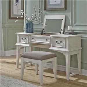 Vanity Desk and Stool