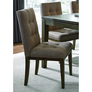 Contemporary Upholstered Dining Side Chair with Tufting
