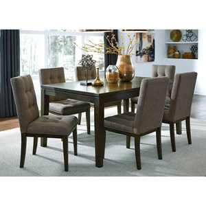 Contemporary Table and Upholstered Chair Set