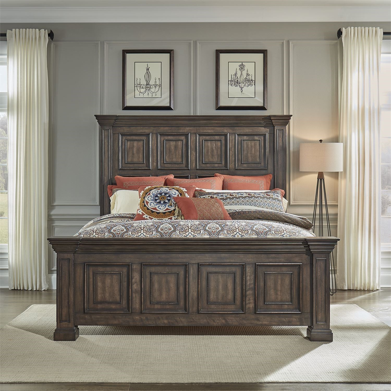 Big Valley King Panel Bed by Liberty Furniture at Zak's Home