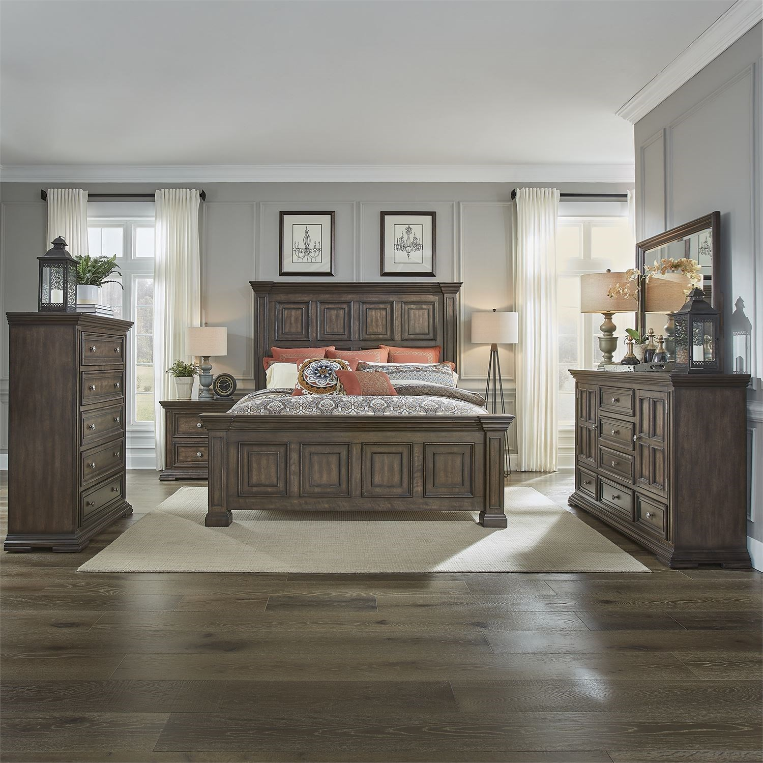 Big Valley Queen Bedroom Group by Liberty Furniture at Zak's Home
