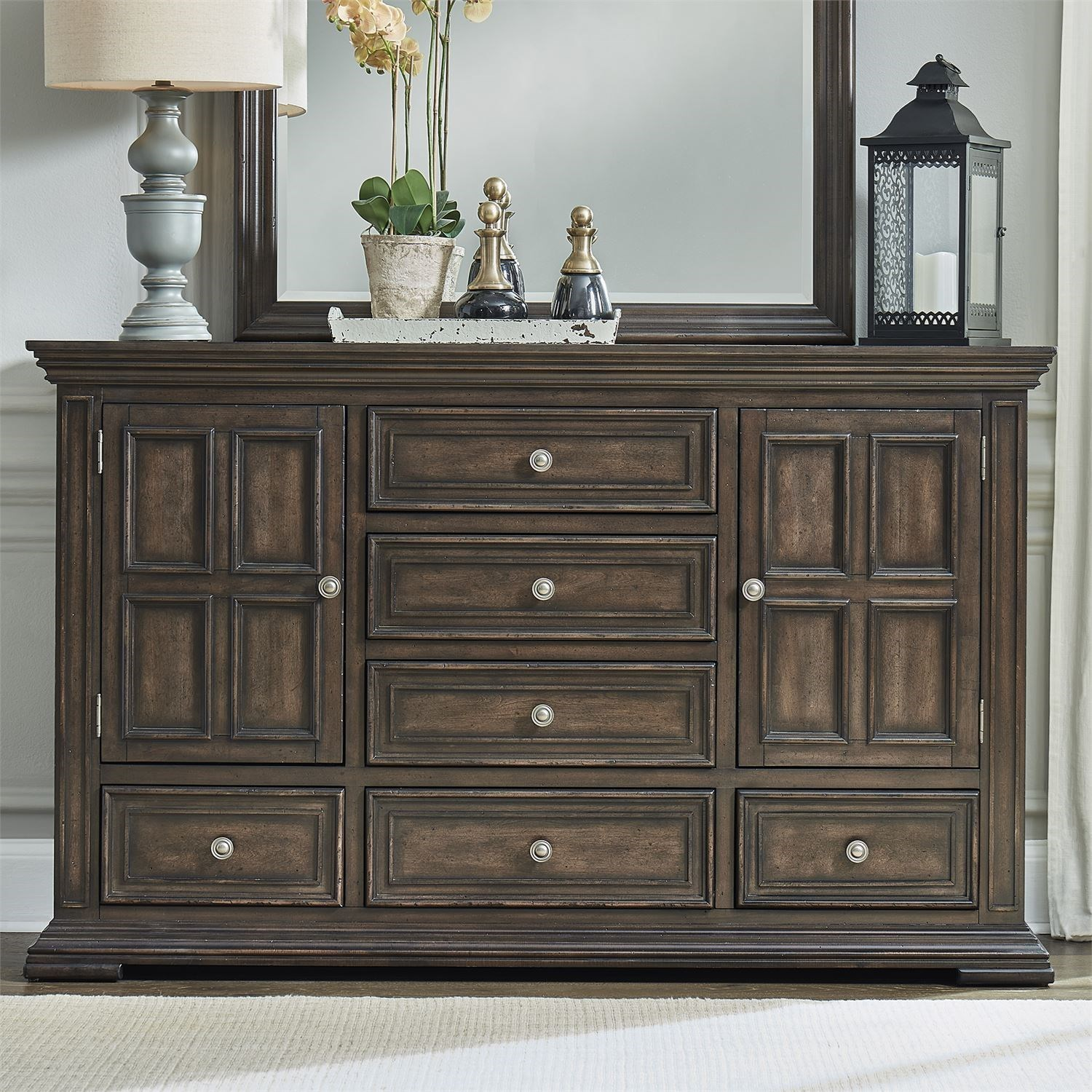 Big Valley 2-Door 6-Drawer Dresser by Liberty Furniture at Zak's Home