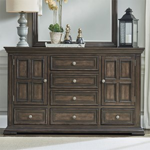 Relaxed Vintage 2-Door 6-Drawer Dresser