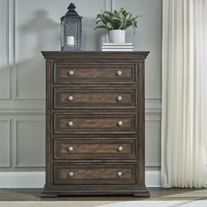 Relaxed Vintage 5-Drawer Chest with Distressed Finish