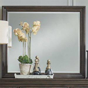 Relaxed Vintage Beveled Glass Dresser Mirror