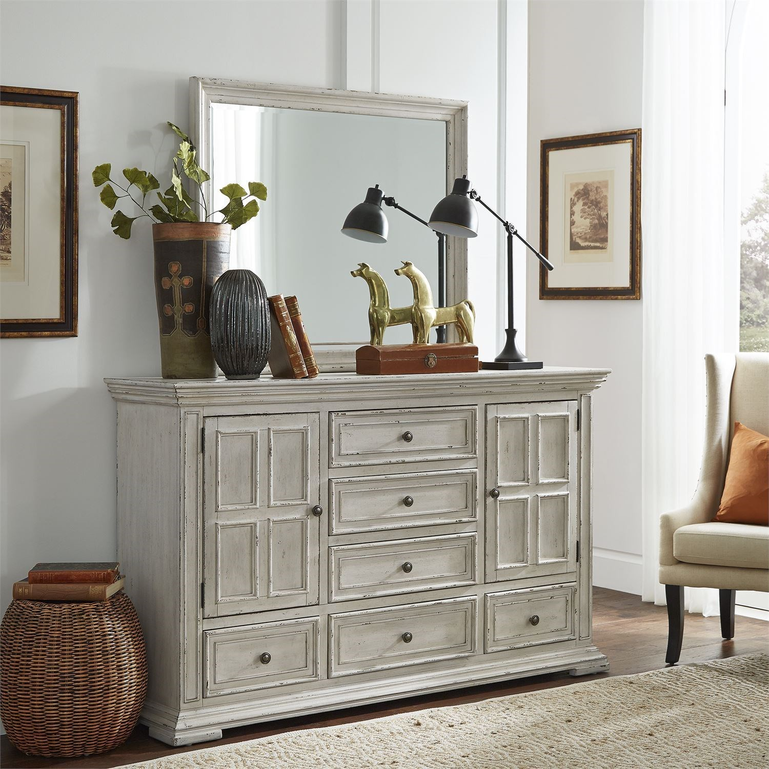 Big Valley Dresser and Mirror by Liberty Furniture at Northeast Factory Direct