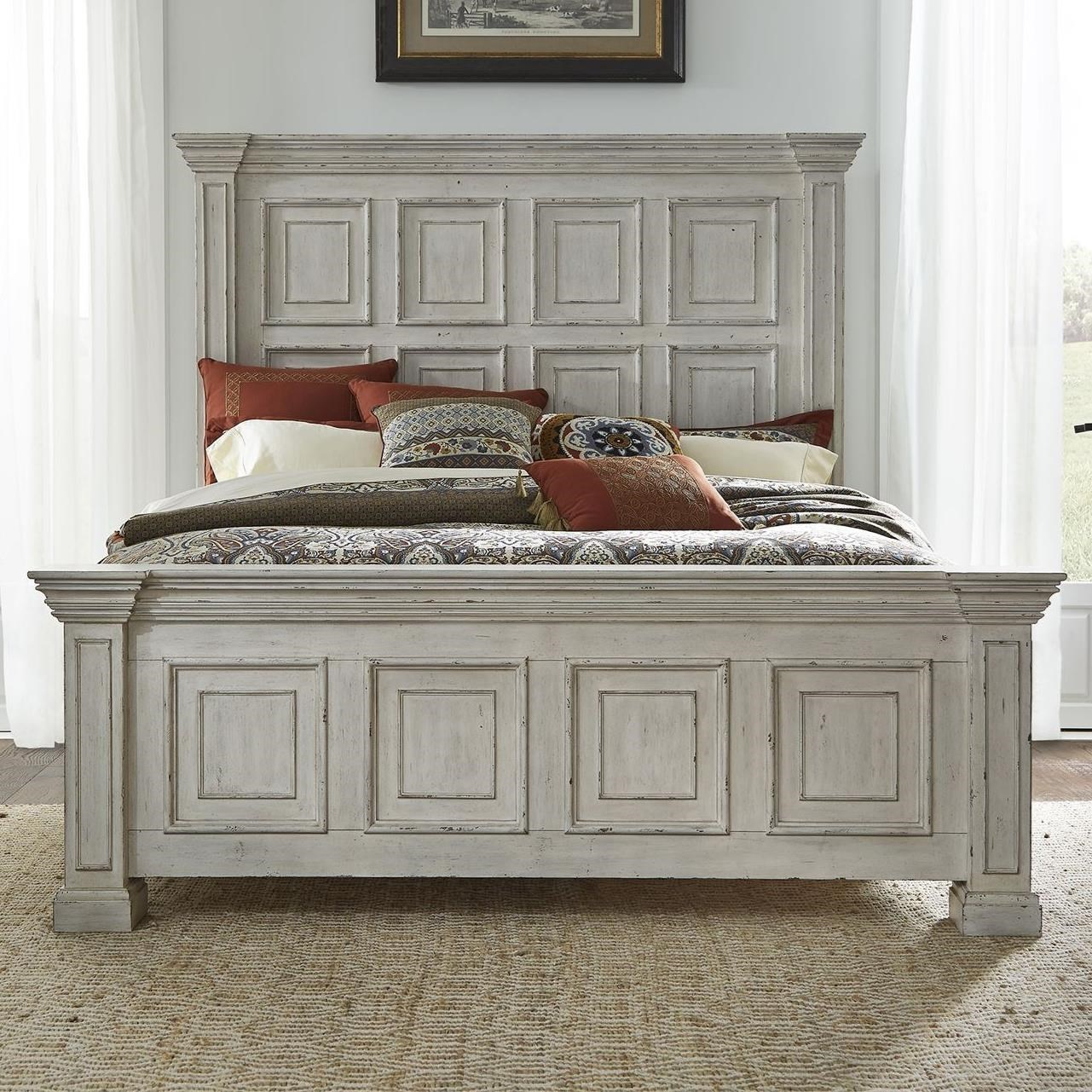Big Valley Queen Panel Bed by Liberty Furniture at Northeast Factory Direct