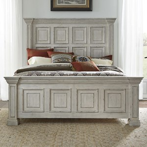 Relaxed Vintage King Panel Bed