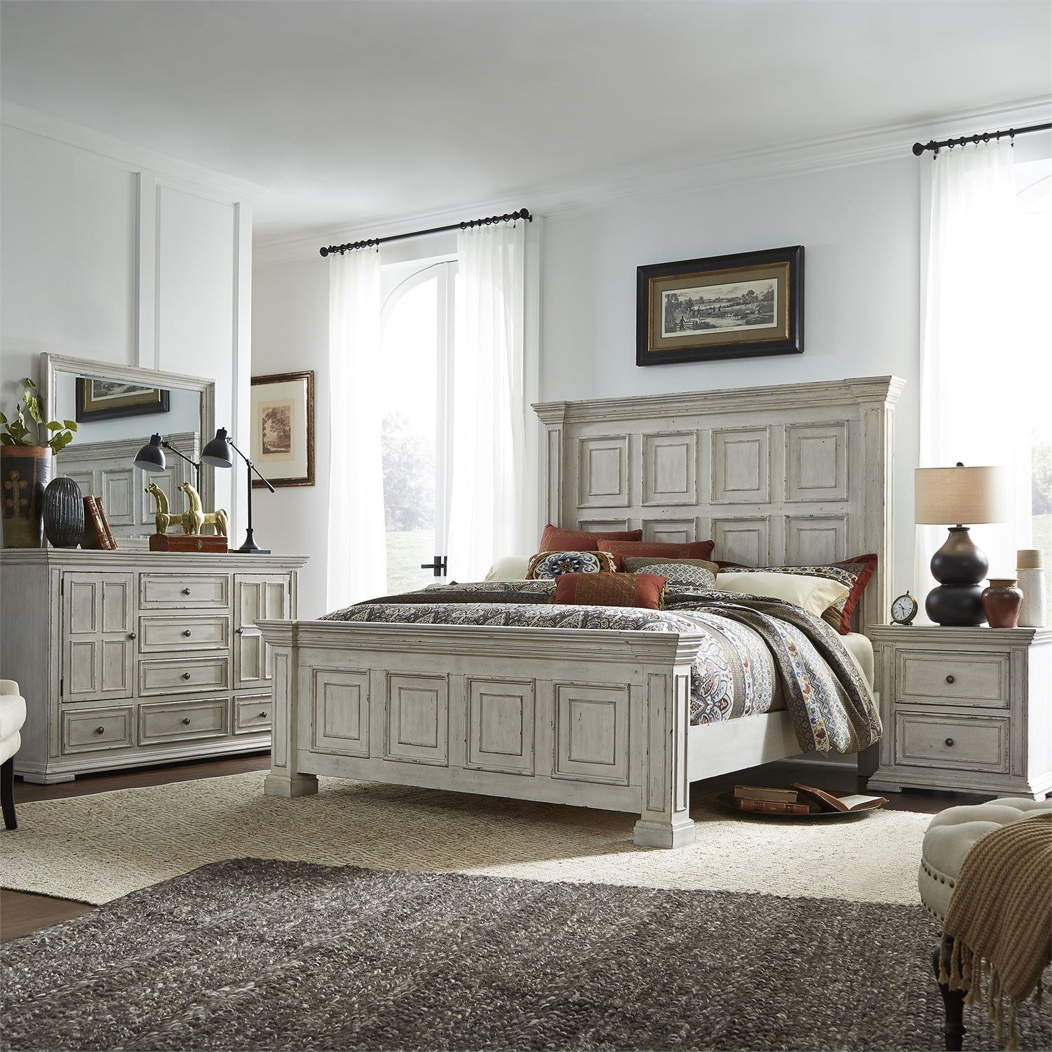 Big Valley Queen Bedroom Group by Liberty Furniture at Suburban Furniture