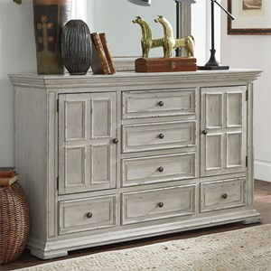 Relaxed Vintage 2-Door 6-Drawer Dresser