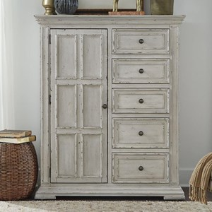 Relaxed Vintage Door Chest with Distressed Finish