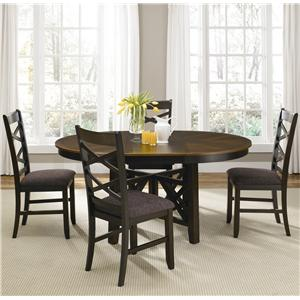 Five Piece Oval Table and Side Chair Dining Set
