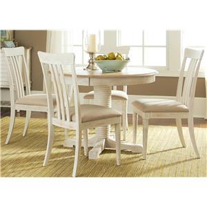 Liberty Furniture Bluff Cove 5 Piece Oval Table Set