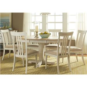 Liberty Furniture Bluff Cove 7 Piece Oval Table Set