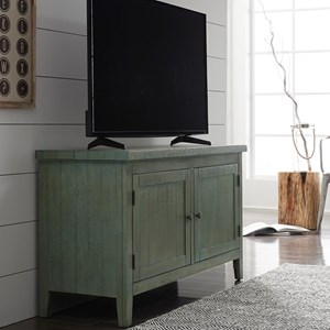 "Rustic 48"" TV Console with Adjustable Interior Shelving"