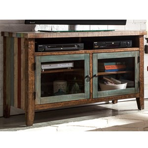 """Rustic 48"""" TV Console with Adjustable Interior Shelving"""