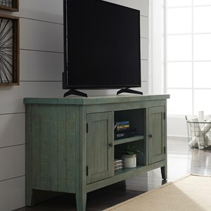 "Rustic 54"" TV Console with Adjustable Interior Shelving"