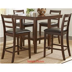 Liberty Furniture Bradshaw Casual Dining 5 Piece Gathering Table Set
