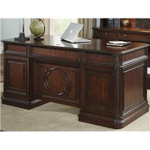 Traditional Executive Desk with 5 Drawers